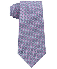 Michael Kors Men's Geometric Pattern Silk Tie