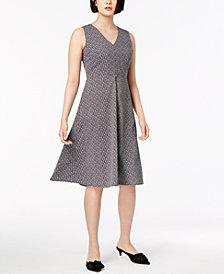 Weekend Max Mara Filippo Printed V-Neck Dress