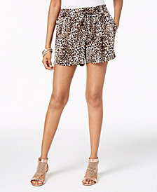 Thalia Sodi Cheetah-Print Pull-On Shorts, Created for Macy's
