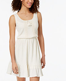 Be Bop Juniors' Ruffled-Hem Peasant Dress