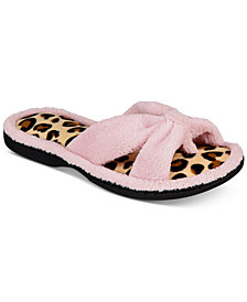 Gold Toe Women's Solid & Leopard-Print Slides