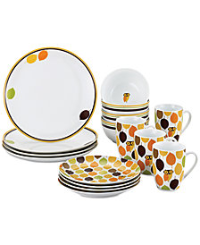 Rachael Ray Little Hoot 16-Pc. Dinnerware Set, Service for 4