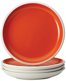 Rachael Ray Rise Orange Set of 4 Salad Plates