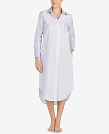 Lauren Ralph Lauren Mixed-Stripe Long Sleepshirt