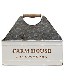 Home Essentials Farmhouse Galvanized 6-Section Caddy