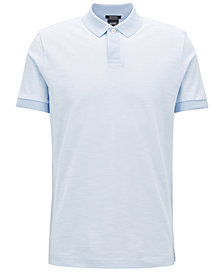 BOSS Men's Regular/Classic-Fit Mercerized Cotton Polo Shirt