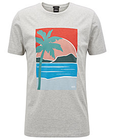 BOSS Men's Slim-Fit Graphic-Print Cotton T-Shirt