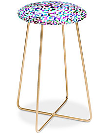 Deny Designs Cayena Blanca Artistic Tribal Print Counter Stool