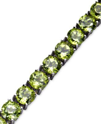 Sterling Silver Bracelet, Peridot Bracelet (18 ct. t.w.)
