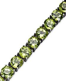 Sterling Silver Peridot Link Bracelet (18-18-1/2 ct. t.w.)
