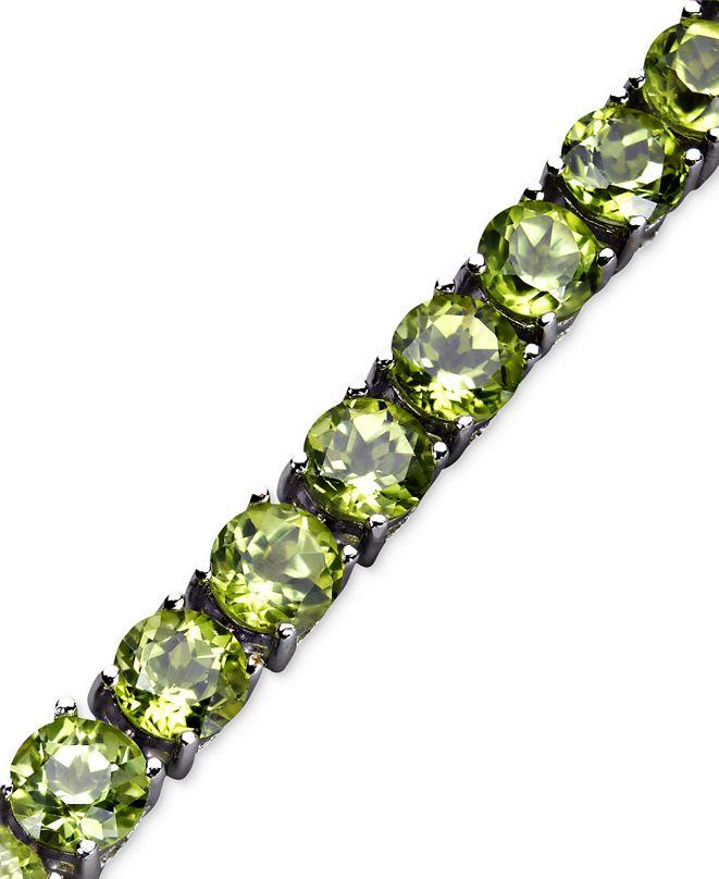 Macy's Peridot Bracelet (18 ct. t.w.) in Sterling Silver