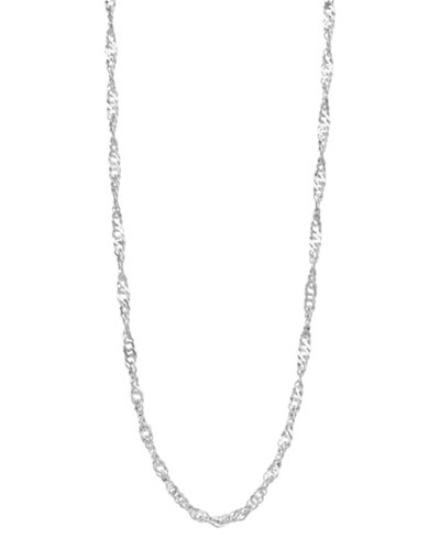 Giani Bernini Sterling Silver Necklace, 18-20