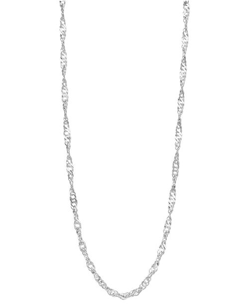 "Giani Bernini Sterling Silver Necklace, 20"" Twisted Singapore Chain"