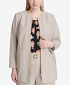 Calvin Klein Plus Size Topper Jacket