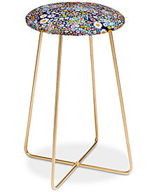 Deny Designs Iveta Abolina Flower Power Counter Stool