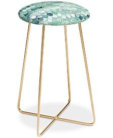 Deny Designs Monika Strigel Lily Mint Mermaid Counter Stool