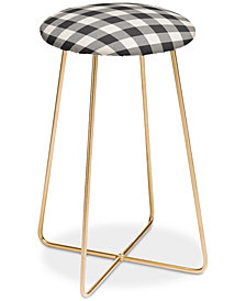 Deny Designs Zoe Wodarz City Plaid Counter Stool