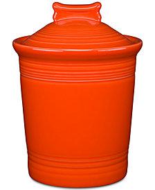 Fiesta Poppy Dog Treat Jar