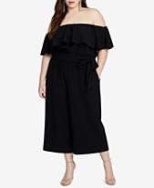 bcd8efe2d86 RACHEL Rachel Roy Trendy Plus Size Off-The-Shoulder Jumpsuit
