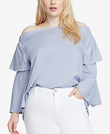 RACHEL Rachel Roy Trendy Plus Size Off-The-Shoulder Top