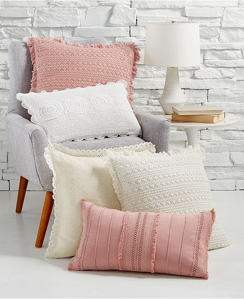 Lacourte Ultra Femme Handcrafted Decorative Pillow Collection, Created for Macy's