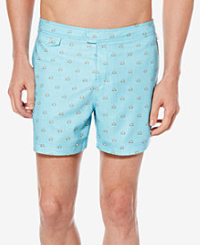 "Original Penguin Men's Sunshine Graphic-Print 6"" Swim Trunks"