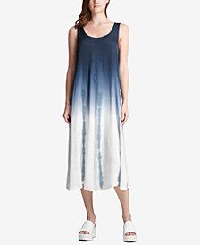 DKNY Tie-Dye Ombré Midi Dress