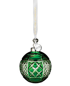 Waterford Emerald Ball Ornament