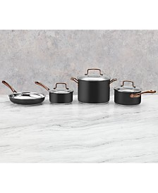 Cuisinart Onyx Black & Rose Gold 7-Pc. Stainless Steel Cookware Set