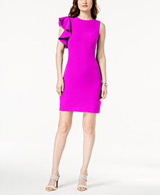 julia jordan Ruffled Sheath Dress