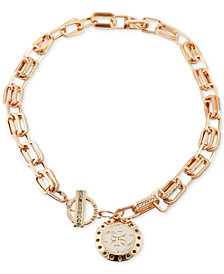 "GUESS Pavé Link & Charm 16"" Pendant Necklace"