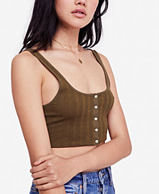 Free People Atlas Crop Ribbed Brami