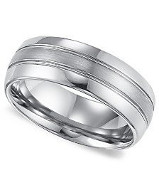 Triton Mens Tungsten Carbide Ring Comfort Fit Wedding Band