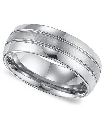 Triton Mens Tungsten Carbide Ring Comfort Fit Wedding Band 8mm