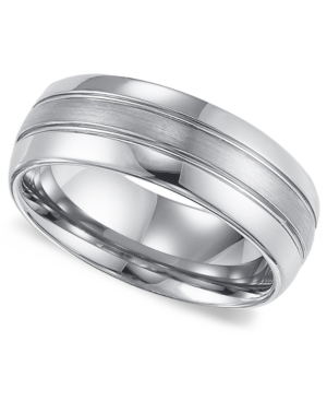 Triton Men's Tungsten Carbide Ring, Comfort Fit Wedding Band (8mm)