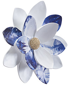 Zuo Margarita Small Wall Decor White & Blue