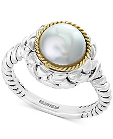 EFFY® Cultured Freshwater Pearl (9mm) Ring in Sterling Silver & 18k Gold