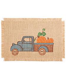 "Bardwil Pumpkin Truck Placemat 13"" x 19"" Placemat"