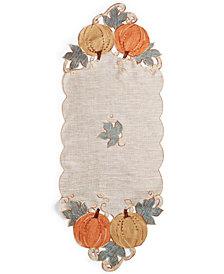 """Homewear Pumpkin Gardenia 14"""" x 36"""" Centerpiece"""