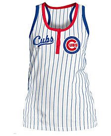 5th & Ocean Women's Chicago Cubs Pinstripe Tank