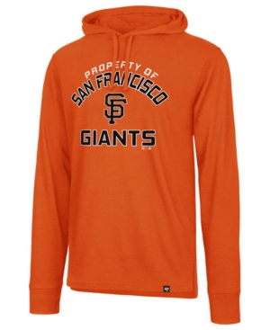 '47 Brand Men's San Francisco Giants Prop Arch Long Sleeve Hooded T-Shirt