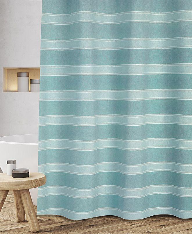 """Popular Bath Fantasy Stripe 72"""" x 72"""" Shower Curtain"""