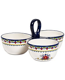 CLOSEOUT! Tabletops Unlimited San Marino Italian 3-Section Dip Bowl