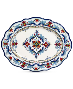 Closeout! Tabletops Unlimited San Marino Italian Oval Platter