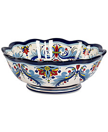 Tabletops Unlimited San Marino Italian Blue Footed Bowl