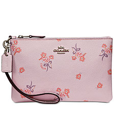 COACH Small Floral Bow Wristlet