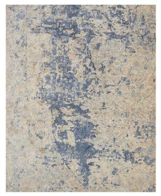 "Porcia PB-13 Beige/Blue 2' 8"" x 12' Runner Area Rug"