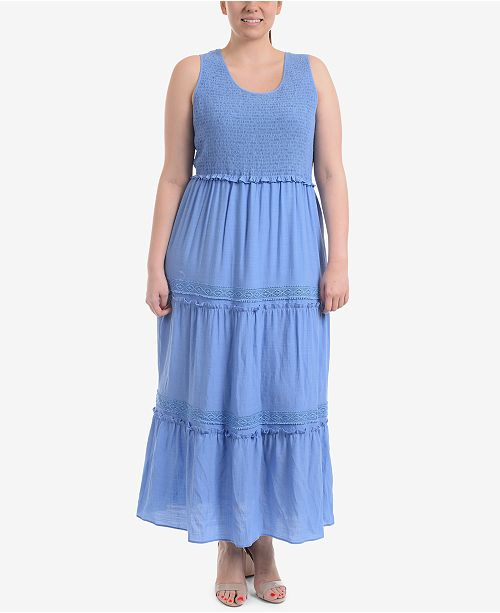 NY Collection Plus Size Tiered Maxi Dress & Reviews - Dresses - Plus ...