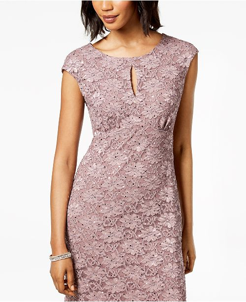 Dress Rosewood Embellished Lace Pink Petite Connected 7qS0OwZO