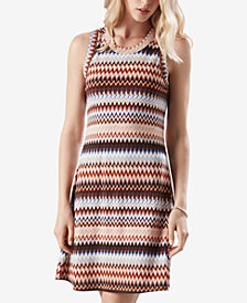 Karen Kane Zig-Zag Printed Sleeveless Dress
